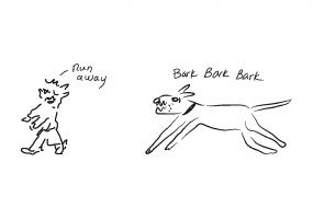24_dog_zombie run away